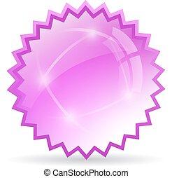 Glass star icon