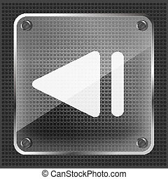 glass step back (left) icon