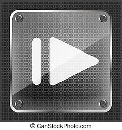 glass step forward (right) icon