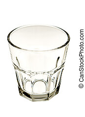 glass - empty glass close up on white background