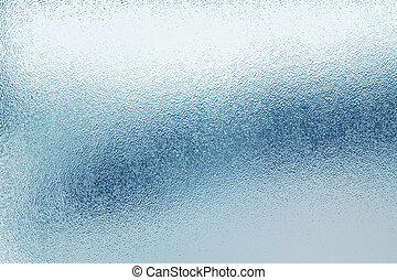 Glass - Closeup of frosted glass texture