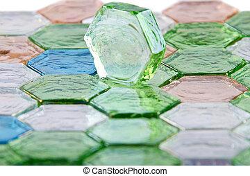 Glass stones, glass tiles, color