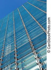 Glass sunshades 2 - Detail view of some sun shades on a ...