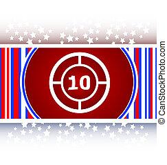glass target web icon, button