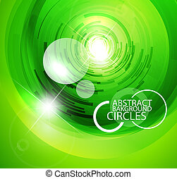 Glass techno circles - Vector illustration for your design