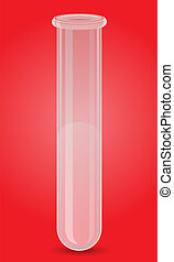 glass test tube vector illustration