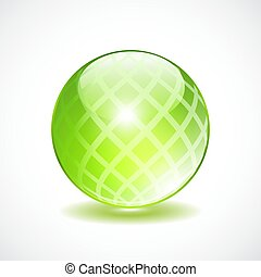 Glass transparent orb icon