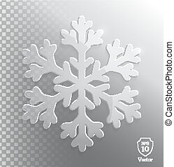 Glass transparent snowflake.