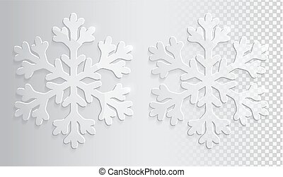 Glass transparent snowflake. Christmas vector illustration