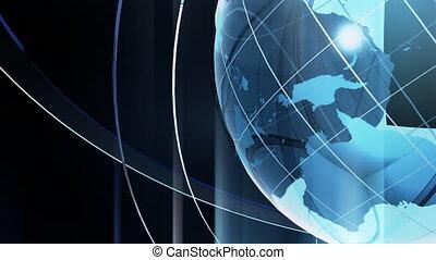 Glass Turning Globe