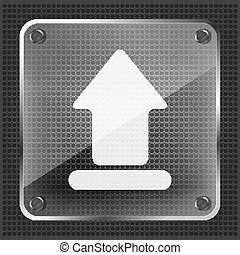 glass upload icon