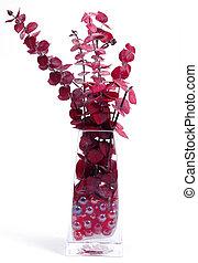 Vase - Glass Vase With Eucalyptus