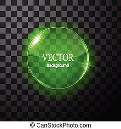 Glass vector circle plane. Easy editable background