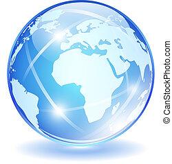 Glass vector globe