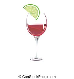 glass. Vector illustration - glass on a white...