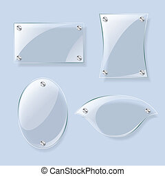 Glass vector planes collection