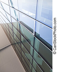 glass wall, modern architecture