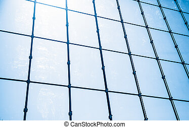 Glass wall of business center