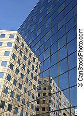 Glass wall reflection - Reflection in the glass facade