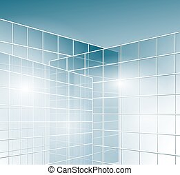 glass walls of buildings - windows