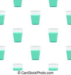 Glass water pattern flat