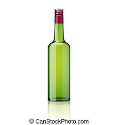 Glass whiskey bottle with screw cap. - Glass brandy...