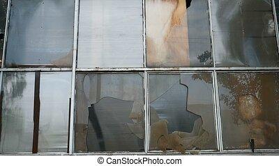 glass window abandoned warehouse factory broken video -...