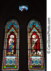 glass window in Church