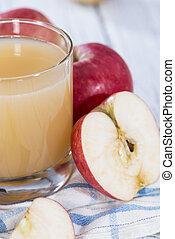 Glass with Apple Juice - Glass with fresh Apple Juice and...