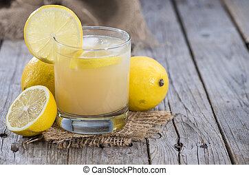 Glass with Lemon Juice
