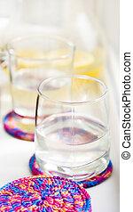Glass with lemonade