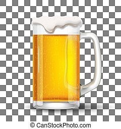Glass with splashing beer template