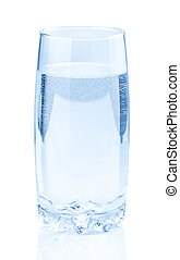 Glass with water isolated on white background
