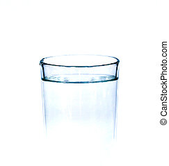 Glass with water isolated on white.