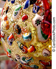 Glass work - Closeup detail of precious glass handicraft...