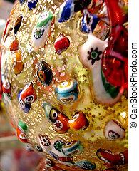 Glass work - Closeup detail of precious glass handicraft...