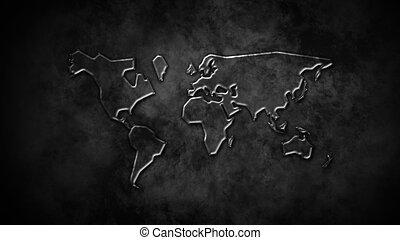glass world map