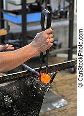 glassblower at work