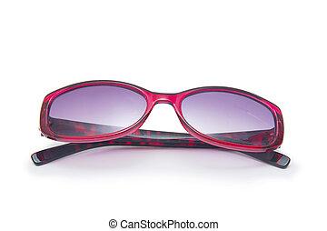 glasses., 背景, 隔离, 白色