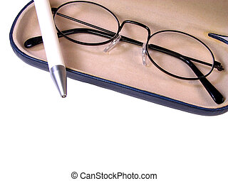 Glasses and Ball-pen