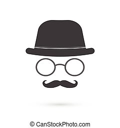 Glasses and Mustache Illustration