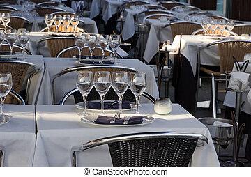 Glasses and silverware