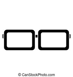 Glasses and sunglasses vector isolate on white background