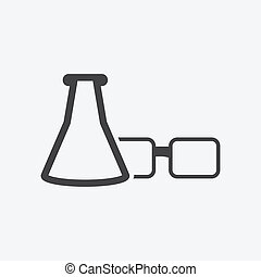 glasses and tube icon