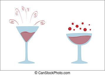 glasses and vine