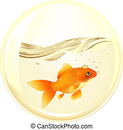 Ball With Gold Fish