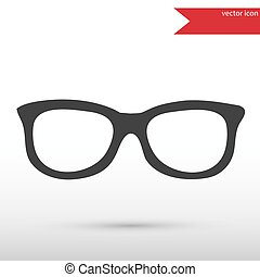 Glasses black icon vector and jpg. Flat style object. Art picture drawing. Eps 10. Web icons.