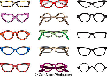 Choice of eyewear shapes and colors