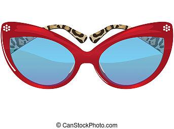 glasses - Illustration of glasses of background