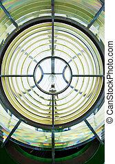 Glasses detail of light of lighthouse